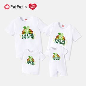 Care Bears St. Patrick's Day Rainbow Four Leaf Clover Cotton Matching Tees