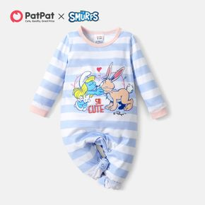 Smurfs Baby So Cute Smurfy and Mouse Strip Romper/One Piece