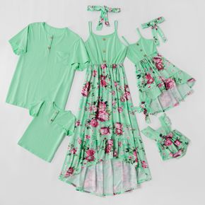 Mosaic Family Matching Floral Tank Dresses - Rompers - 100% Cotton Tops