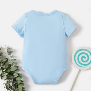Christmas Baby Graphics Ice Cream and Letter Print Short-sleeve Romper