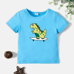Toddler Graphic Blue Short-sleeve Tee