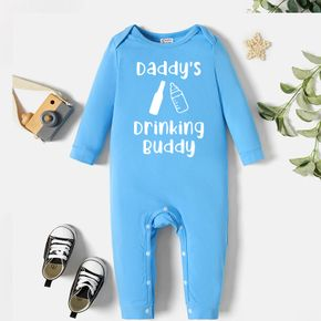 Baby Graphic Blue Long-sleeve Jumpsuit