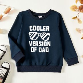 Toddler Graphic Dark Blue Long-sleeve Pullover