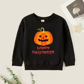 Kids Graphic Black Long-sleeve Pullover