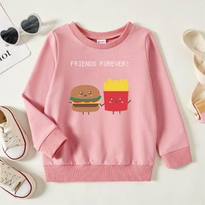 Toddler Graphic Pink Long-sleeve Pullover
