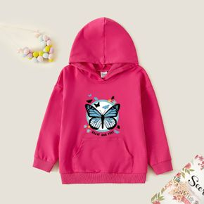 Kids Graphic Hot Pink Long-sleeve Hooded Pullover