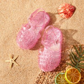 Toddler / Kid Solid Color Clear Crystal Hollow Beach Shoes