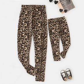 Leopard Yoga Leggings Sports Pants Tights for Mom and Me