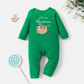 Baby Graphic Green Long-sleeve Jumpsuit