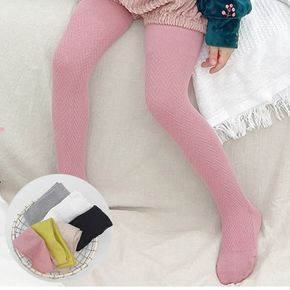 Kid Girl Elastic Solid Footed Leggings (Multi Color Available)