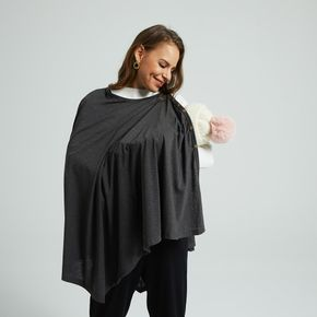 Maternity Button Detail Grey Round Neck Long-sleeve Coat