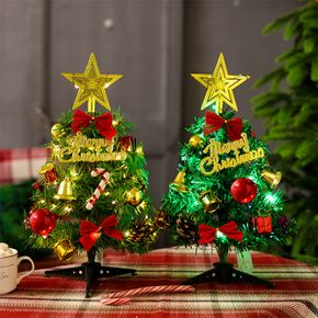 Tabletop Christmas Tree Mini Artificial Christmas Tree with Lights for Table Desk Decoration