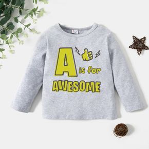 Toddler Graphic Light gray Long-sleeve Tee