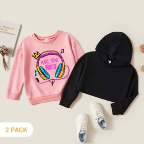 2-Pack Kids Graphic Long-sleeve Pullover