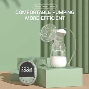 Electric Breast Pump with Smart Touch Screen for Breast Milk Suction and Breast Massage