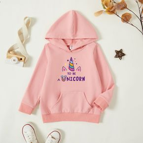 Toddler Graphic Pink Long-sleeve Hooded Pullover