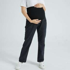 Maternity Casual Black Baggy Jeans