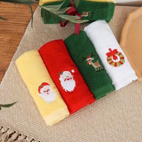 Christmas Towels Gift Set, Absorbent Quick Drying Bath Towel, Washing Towel Hand Face Cloth Towel for Home Bathroom