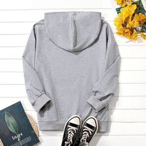 Plus Graphic Long-sleeve Hooded For women