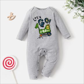 Baby Graphic Light gray Long-sleeve Jumpsuit
