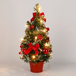 Tabletop Christmas Tree Mini Artificial Christmas Tree with Lights for Table Desk Decoration New Year Gift