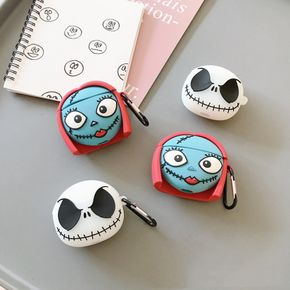 Punk Bluetooth Headset Cover Cartoon Silicone Earphone Cover Protective Shell for AirPods 1/2