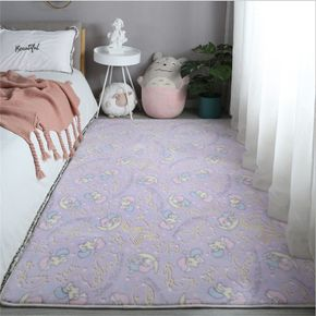 Luminous Floor Plush Mat Glow in the Dark for Living Room Bed Room Bedside Carpets Home Decoration