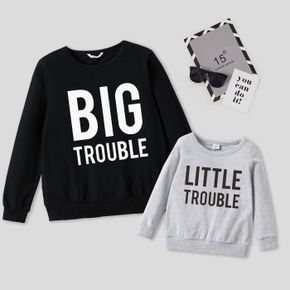 100% Cotton Letter Print Long-sleeve Crewneck Sweatshirts for Dad for Me
