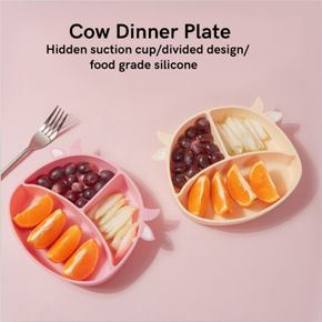 Divided Silicone Baby Toddler Non-slip Suction Plates Feeding Safe Kids Dishes