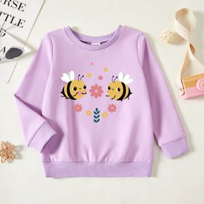 Toddler Graphic Lavender Purple Long-sleeve Pullover