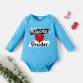 Baby Graphic Blue Long-sleeve Romper