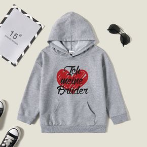 Kids Graphic Light gray Long-sleeve Hooded Pullover