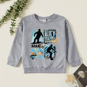Kid Boy Sporty style Print Long-sleeve Pullover