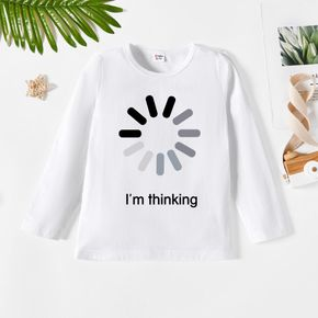 Kids Boy Letter & Load Graphic Print Long-sleeve Tee