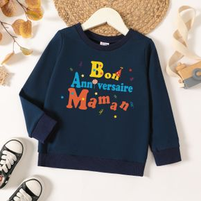 Toddler Graphic Letter and Stars Print Long-sleeve Pullover