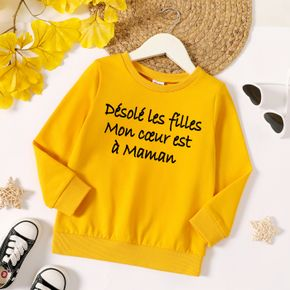Toddler Boy Graphic Letter Print Long-sleeve Pullover