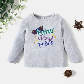 Toddler Boy Graphic Letter Print Long-sleeve Tee