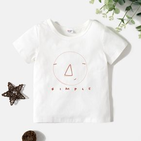 Toddler Boy Letter & Graphic Print Short-sleeve Tee