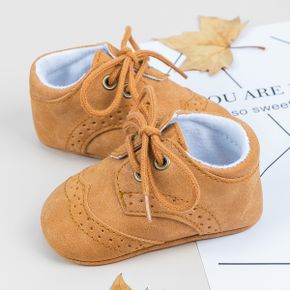Baby / Toddler Brown Lace-up Prewalker Shoes