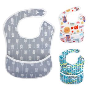 Cartoon Baby Bib, Waterproof, Washable Fabric for Babies and Toddlers
