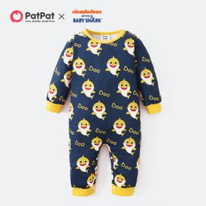 Baby Shark Allover Graphic Jumpsuit/One Piece for Baby