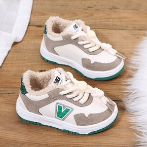 Toddler Letter Graphic Elastic Shoelaces Sneakers