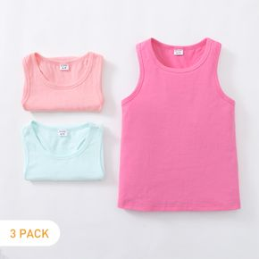 3-pack Solid Athleisure Tank Top for Toddlers / Kids