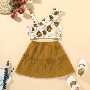 2-piece Toddler Girl Floral Camisole and Dress Set