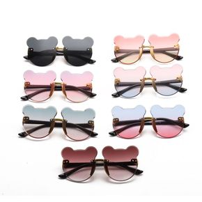 Kids Cartoon Cat Ears Rimless Decorative Glasses (With Glasses Case)