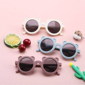 1-pack Kids Candy Color Cartoon Bear Ears Decorative Glasses
