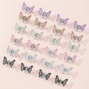 24-pack Multicolor Butterfly Hair Claw Hair Accessories for Girls