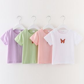 Toddler Girl Butterfly Print Colorful Tee