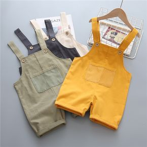 Toddler Chic Solid Casual Overalls