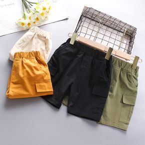 Toddler Boy Casual Solid Shorts with Pocket